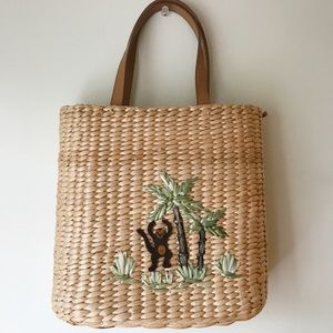 Open to offers! Straw Monkey Bag